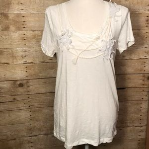 Women's J Crew off white tee size Large